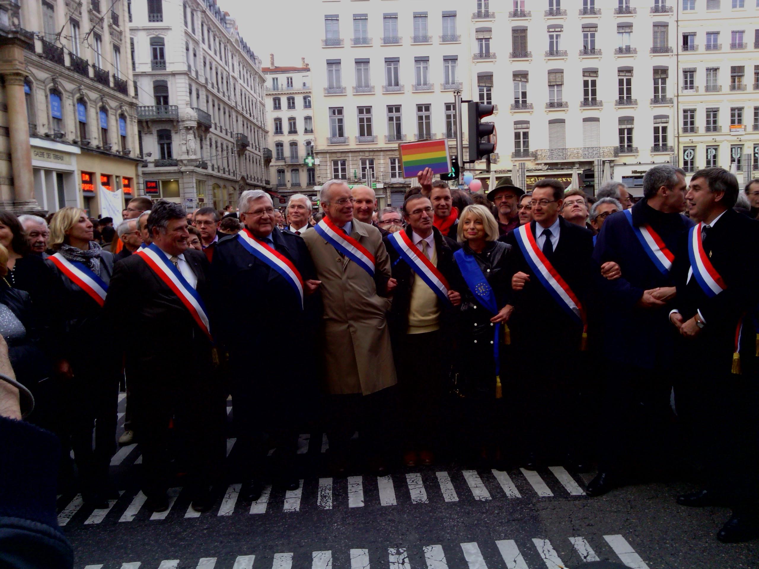 manifestation à Lyon cet après-midi