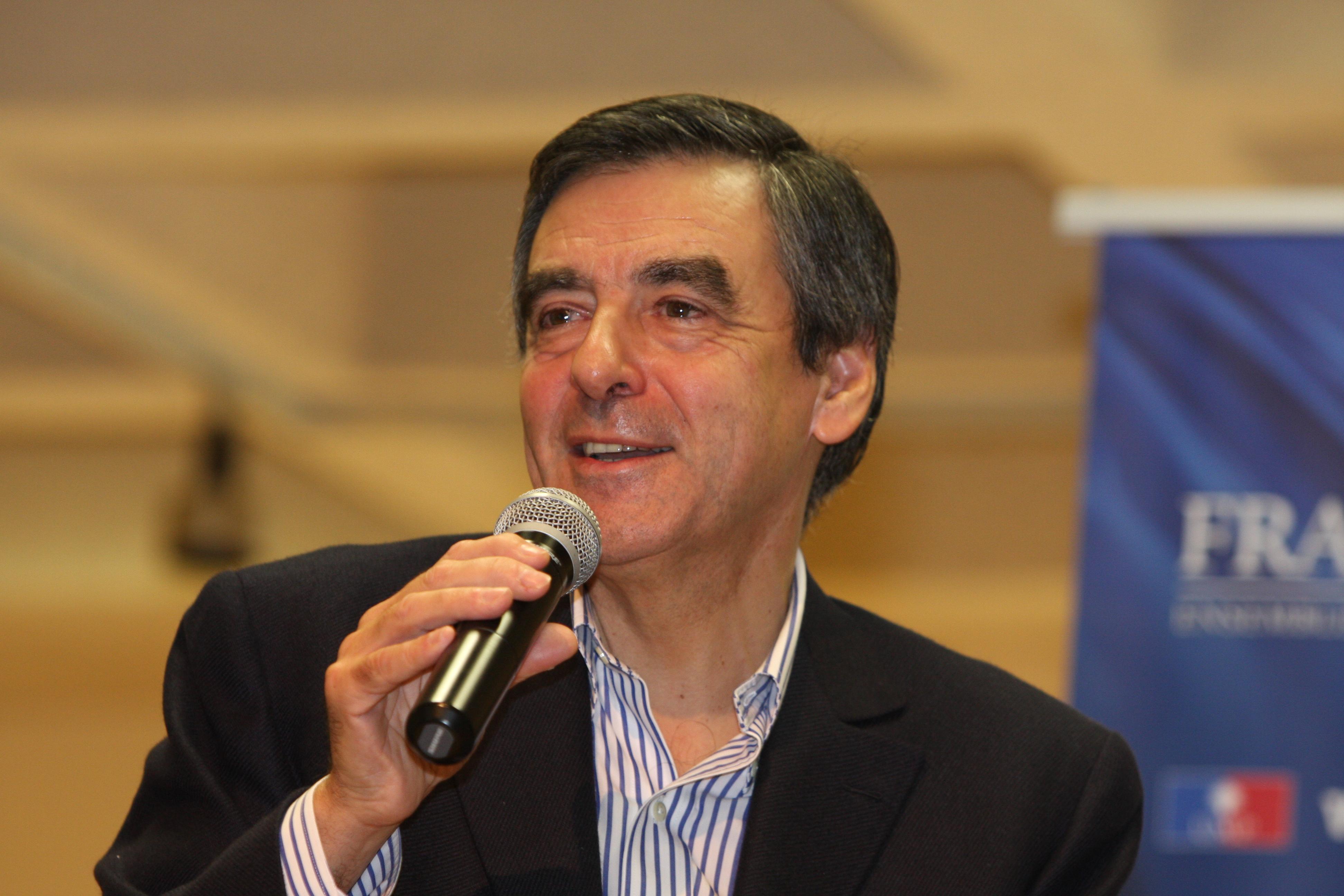 François Fillon en tournée dans l'Ain le 10 janvier