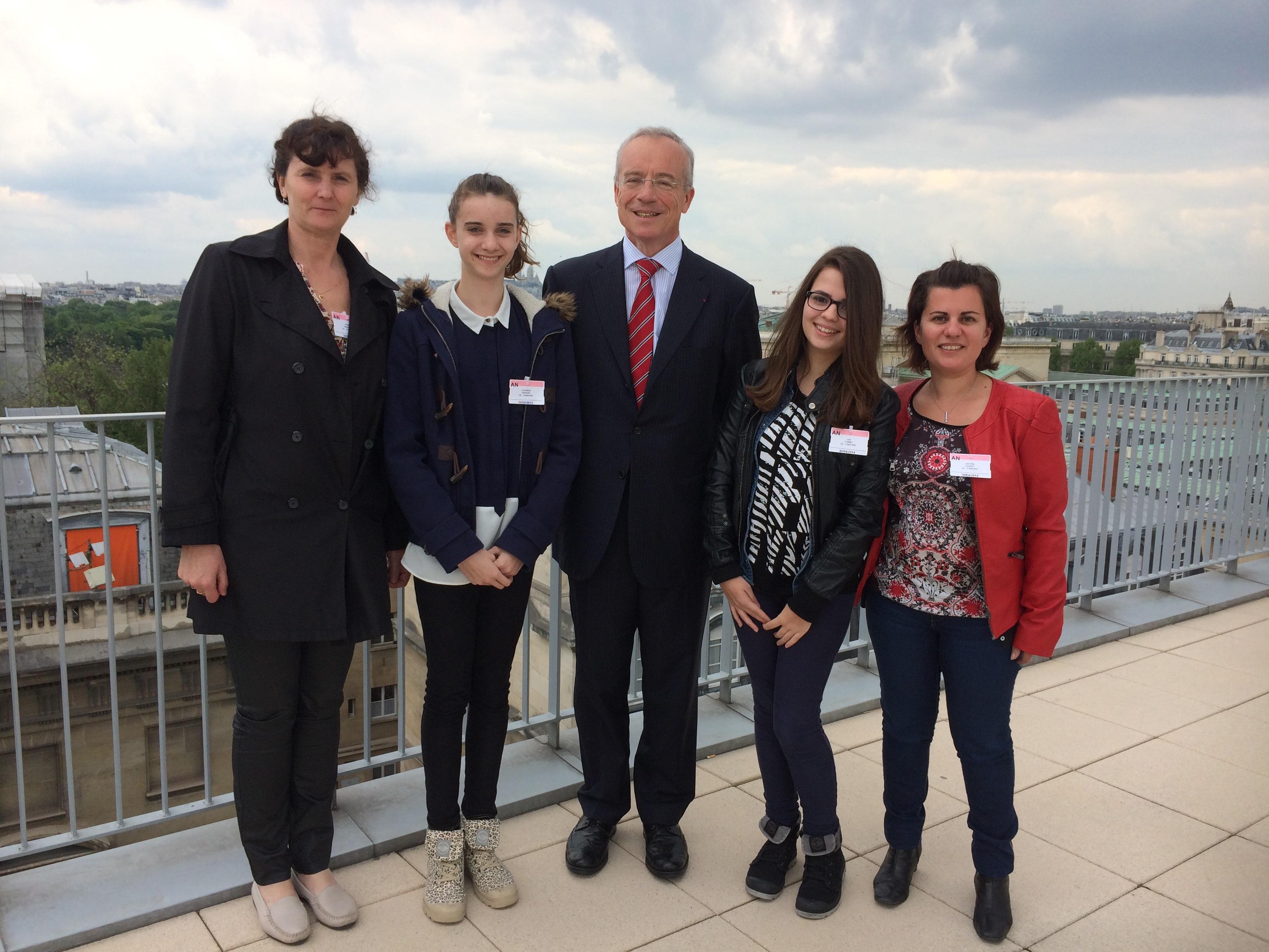 les conseillers généraux jeunes du canton de Lagnieu visitent l'Assemblée nationale