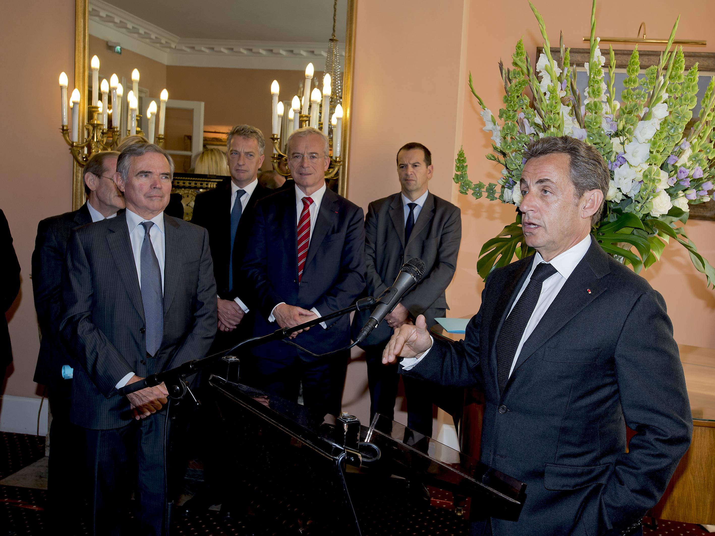 déjeuner avec Nicolas Sarkozy