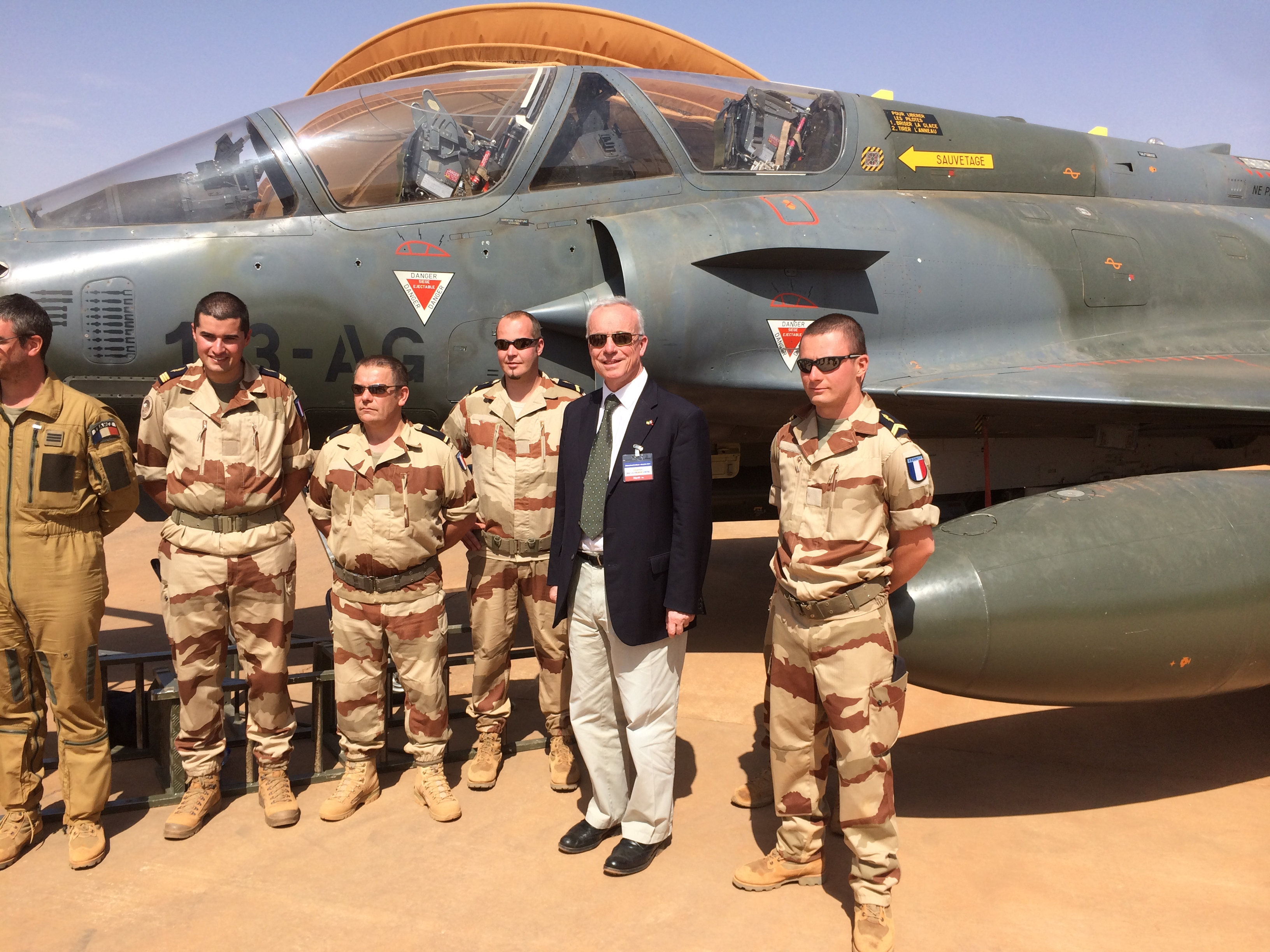 Réveillon avec les troupes françaises en Afrique