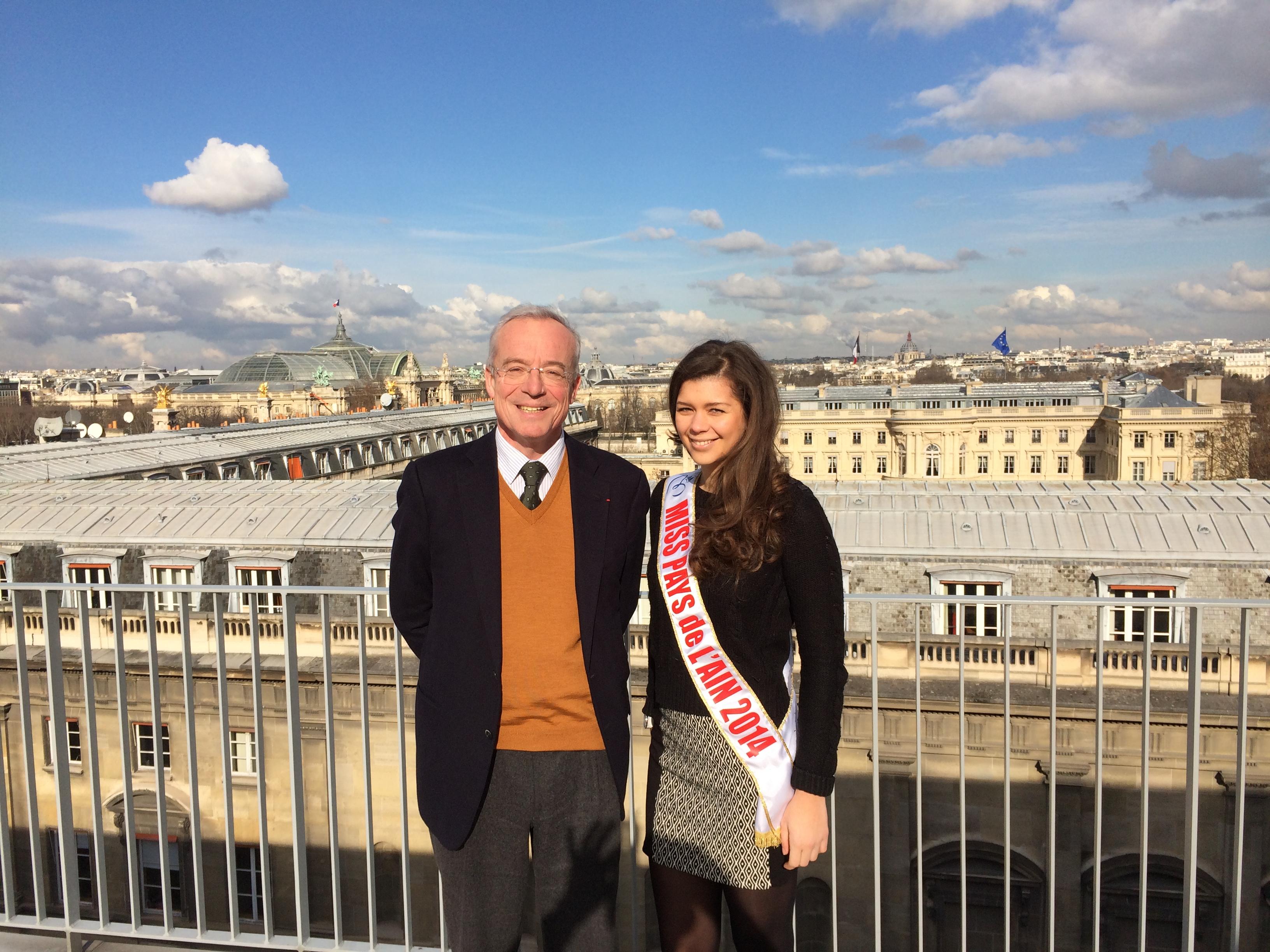 Notre Miss Pays de l'Ain 2014 à l'Assemblée