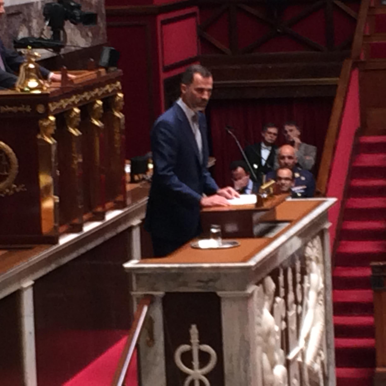 Le discours d'un roi : «Les Républicains » reçoivent Felipe d'Espagne au Palais Bourbon.