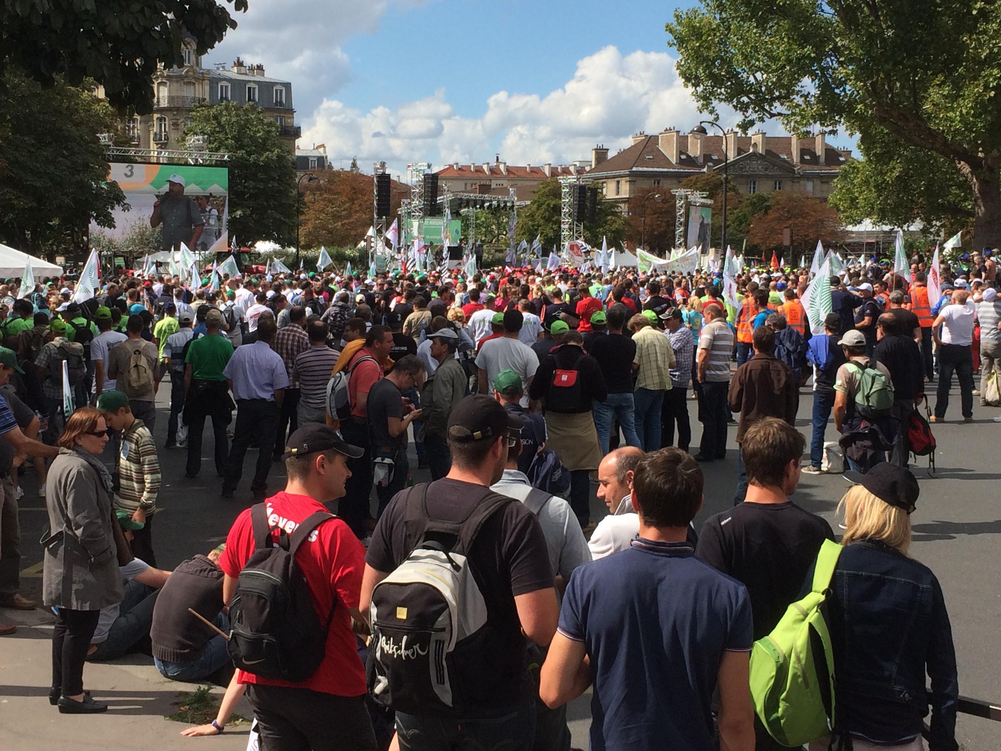 Manifestation des agriculteurs à Paris