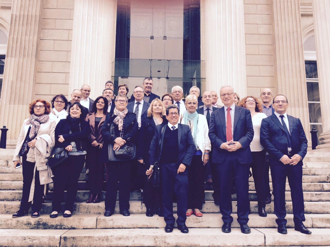 Les élus de l'Ain visitent l'Assemblée nationale