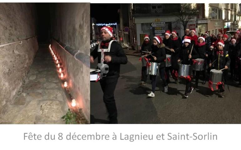 Fête du 8 décembre à Lagnieu et Saint-Sorlin