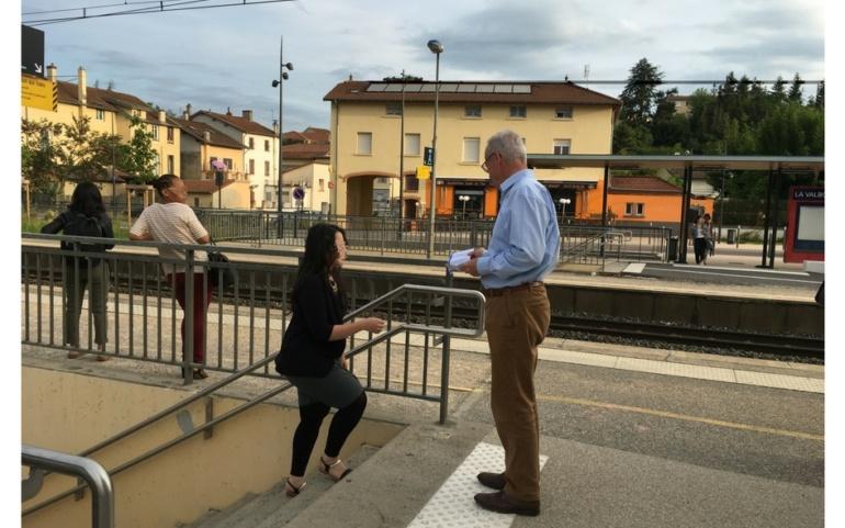 En gare de La Valbonne, ce matin