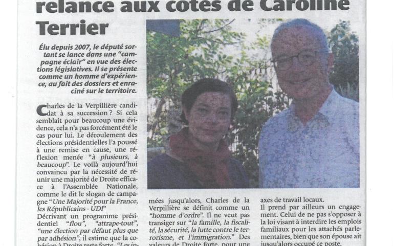 Vu dans le journal de la Côtière aujourd'hui