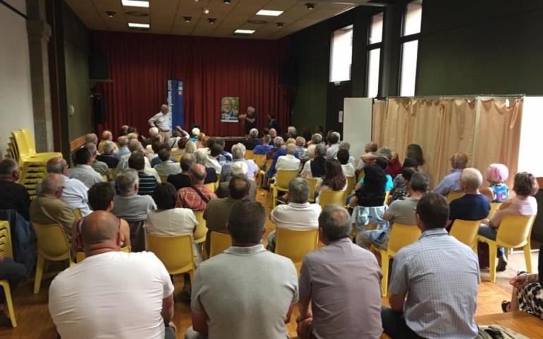 Dernière réunion publique à Lagnieu