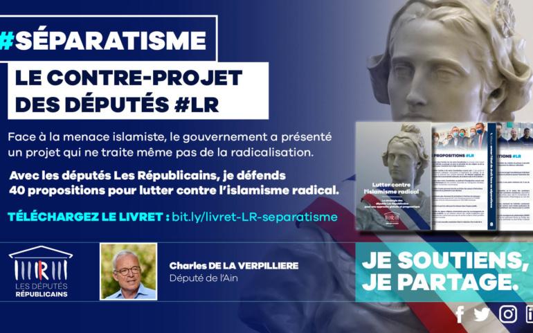 Séparatisme : le contre-projet des députés LR