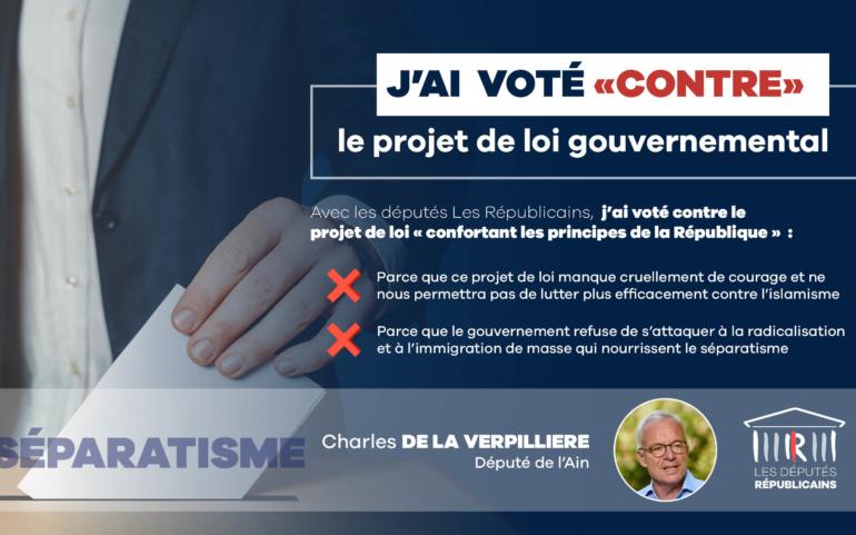 Contre le projet de loi «confortant les principes de la République»
